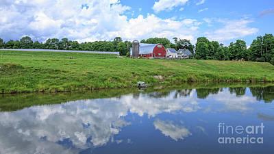 Photograph - Four Corners Farm Vermont by Edward Fielding