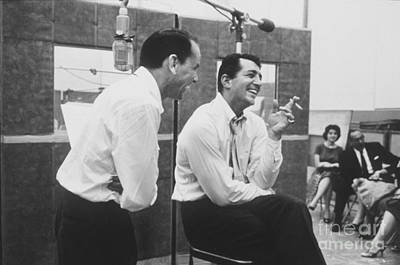 Frank Sinatra Photograph - Frank Sinatra And Dean Martin At Capitol Records Studios by The Titanic Project
