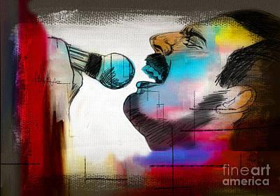 Freddie Mercury Print by Mark Ashkenazi