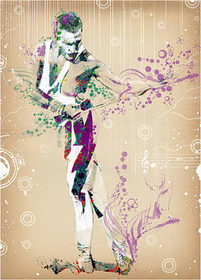 Singer Digital Art - Freddie Mercury Vintage 2 by Bekim Art