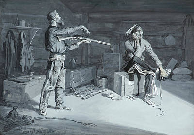 Gouache Painting - Frederic Remington by MotionAge Designs
