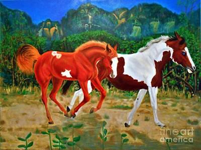 Pinto Painting - Free Yer Spirit Large File by Abelone Petersen