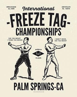Digital Art - Freeze Tag Championships by Mark Kingsley Brown