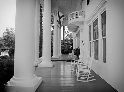 Rocking Chairs Photograph - Front Porch Of The Shorter Mansion Eufaula Alabama by Mountain Dreams