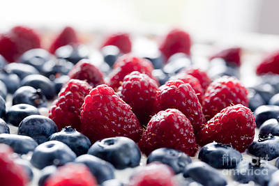 Ripe Photograph - Fruit Tart With Fresh Raspberry And Blueberry by Michal Bednarek