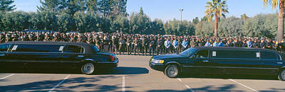Funeral Service For Police Officer Print by Panoramic Images