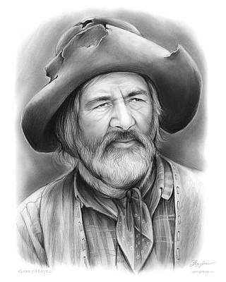 Westerns Drawing - Gabby Hayes by Greg Joens