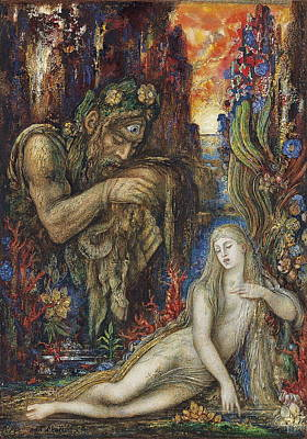 Sea Nymph Painting - Galathea by Gustave Moreau