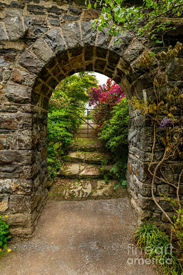 Garden Arch Print by Adrian Evans