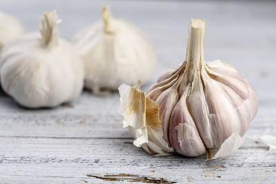 Kitchen Photograph - Garlic by Nailia Schwarz