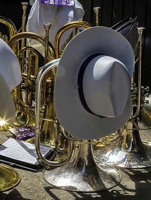Gay Pride Parade Nyc 2016 Marching Band Instruments Print by Robert Ullmann