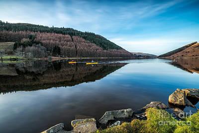Canoe Photograph - Geirionydd Lake by Adrian Evans