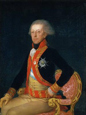 Man Painting - General Antonio Ricardos by Francisco Goya