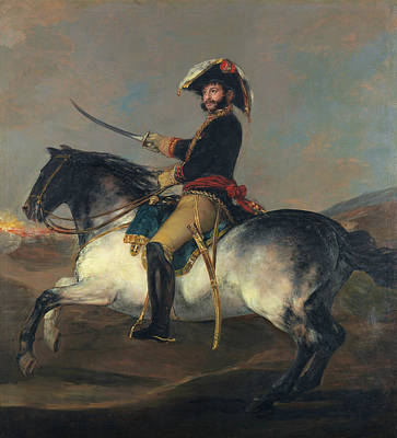 Riding Painting - General Jose De Palafox On Horseback by Francisco Goya