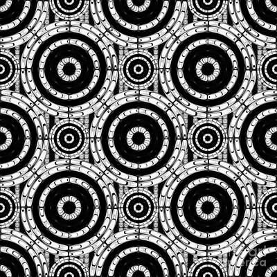 Geometric Black And White Print by Gaspar Avila