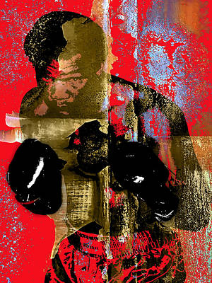 George Foreman Collection Print by Marvin Blaine