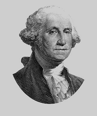 Revolution Mixed Media - George Washington  by War Is Hell Store