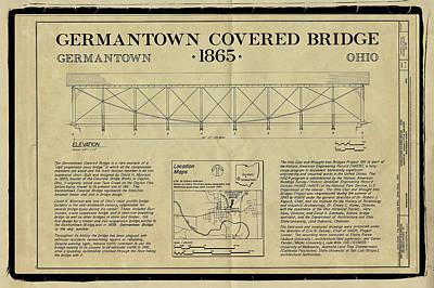 Germantown Covered Bridge Print by Jack R Perry