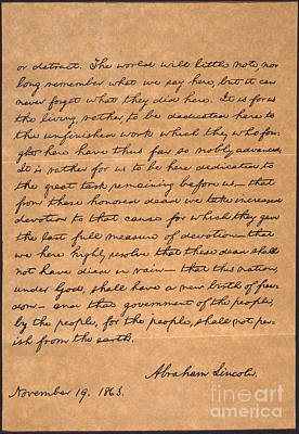Artifacts Photograph - Gettysburg Address by Granger