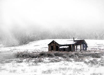 Old Cabins Photograph - Ghost Town by Leland D Howard