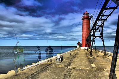 Lake Michigan Photograph - Ghosts Of Grand Haven by Matthew Winn