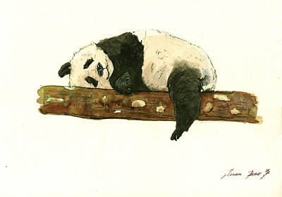Wall Art Painting - Giant Panda  by Juan Bosco