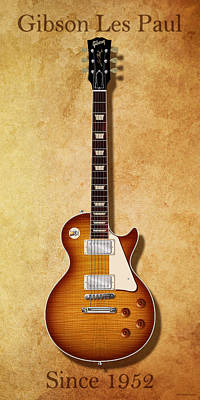 Jimmy Page Digital Art - Gibson Les Paul Since 1952 by WB Johnston