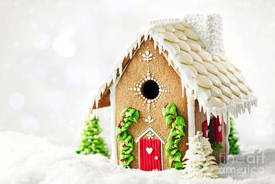 Gingerbread House Print by Ruth Black