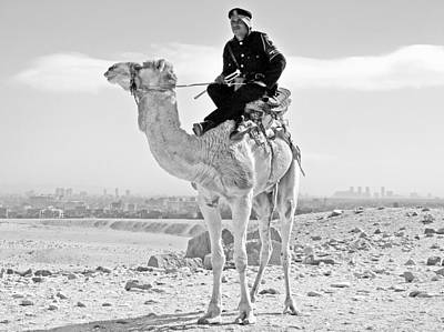 Egypt Photograph - Giza Pyramids Camel Tourist Police by Joseph Hendrix