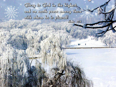 Winter Promise Digital Art - Glory To God by Judi Saunders