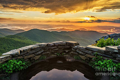 Pinnacle Overlook Photograph - Golden by Anthony Heflin