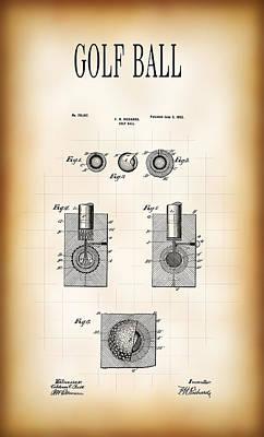 Golf Ball Patent 1902 Print by Daniel Hagerman