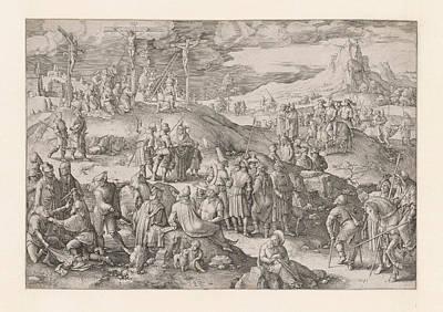 Drawing - Golgotha by Lucas van Leyden