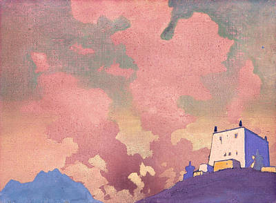 Russian Painting - Gompa by Nicholas Roerich