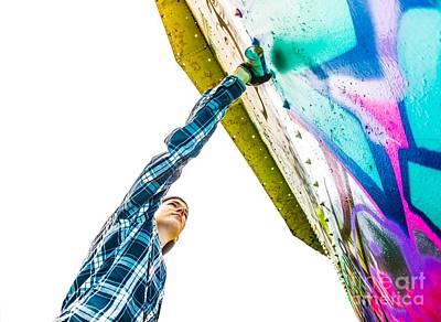 Hip Hop Photograph - Graffiti Artist by Diane Diederich
