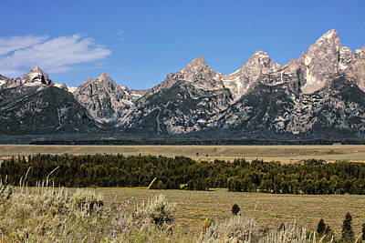 Crag Photograph - Grand Teton Wy by Christine Till