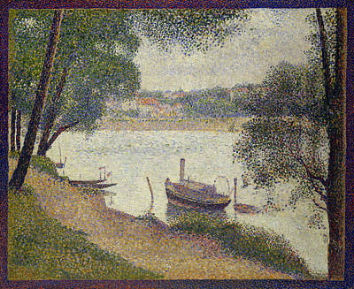 Outlook Painting - Gray Weather, Grande Jatte by Georges Seurat