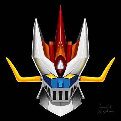 Mecha Digital Art - Great Mazinger by Andrea Gatti