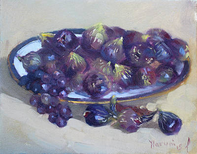 Grapes Painting - Greek Figs by Ylli Haruni