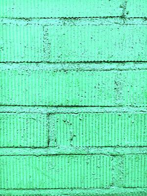 Realistic Photograph - Green Brick Wall by Tom Gowanlock