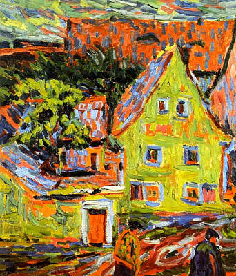 House Painting - Green House by Ernst Ludwig Kirchner