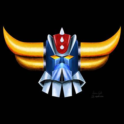Mecha Digital Art - Grendizer by Andrea Gatti