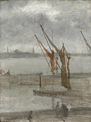 James Abbott Mcneill Whistler Painting - Grey And Silver. Chelsea Wharf by James Abbott McNeill Whistler