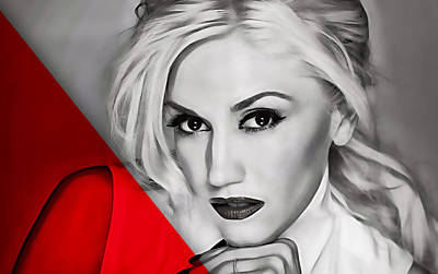 Gwen Stefani Mixed Media - Gwen Stefani Collection by Marvin Blaine