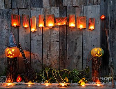 Halloween Pumpkins Print by Jerzy Lekki
