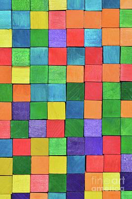 Block Photograph - Handicraft Cubes by George Atsametakis