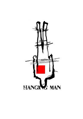 Tshirt Drawing - Hanging Man by H James Hoff