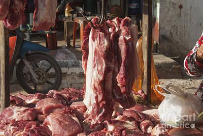 Hanging Meat Print by Daniel Ronneberg