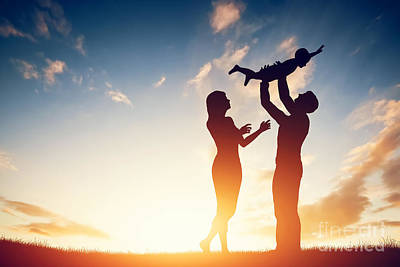 Baby Photograph - Happy Family Together by Michal Bednarek