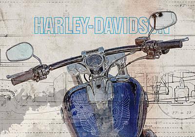 Harley Davidson Cvo Breakout Print by Yurdaer Bes